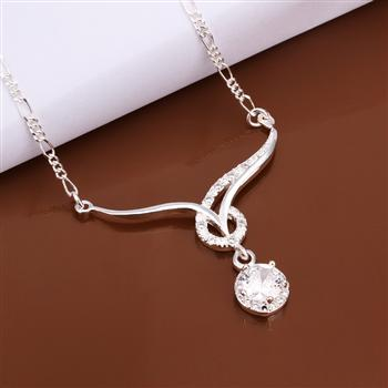 wholesale 925 silver fashion jewelry 2014 Twisted Line Bracelet women Necklace